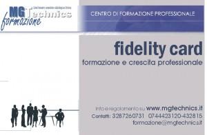 fidelity card MG Technics formazione